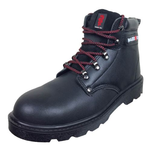 Warrior Black Ankle Safety Boots